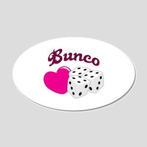 I LOVE BUNCO Wall Decal