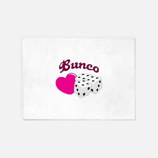 I LOVE BUNCO 5'x7'Area Rug