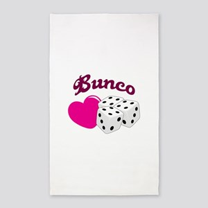 I LOVE BUNCO Area Rug