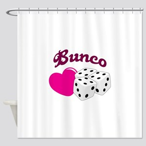 I LOVE BUNCO Shower Curtain