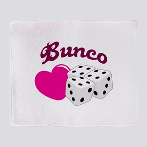 I LOVE BUNCO Throw Blanket
