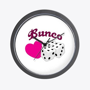 I LOVE BUNCO Wall Clock