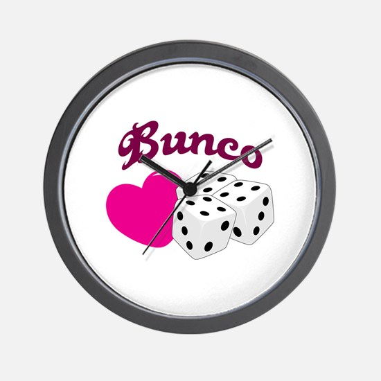 I LOVE BUNCO Wall Clock