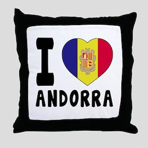 I Love Andorra Throw Pillow