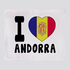 I Love Andorra Throw Blanket