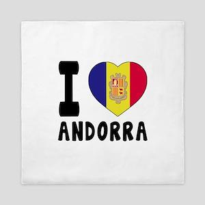 I Love Andorra Queen Duvet