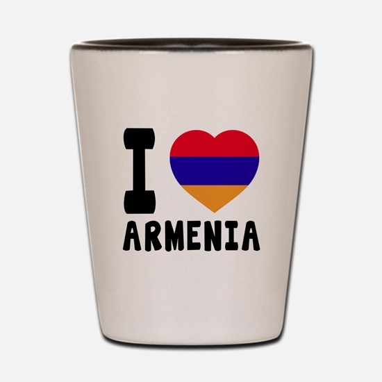 I Love Armenia Shot Glass