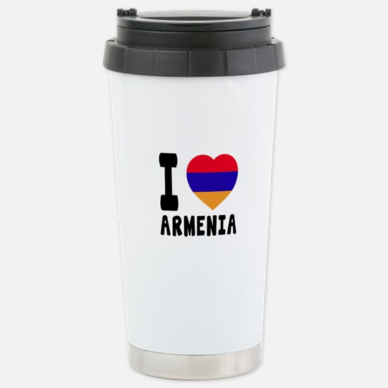 I Love Armenia Stainless Steel Travel Mug