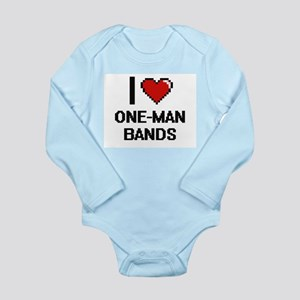 I love One-Man Bands digital design Body Suit
