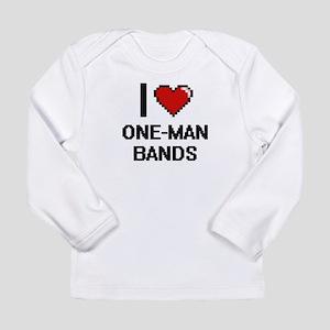 I love One-Man Bands digital d Long Sleeve T-Shirt