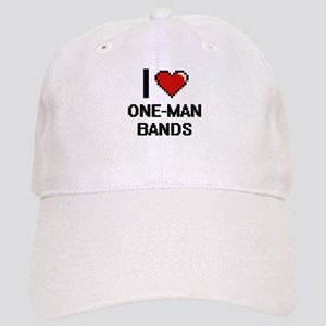 I love One-Man Bands digital design Cap