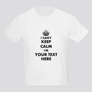 Personalized I Cant Keep Calm T-Shirt For Kids
