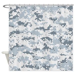 Snow Camo Shower Curtains