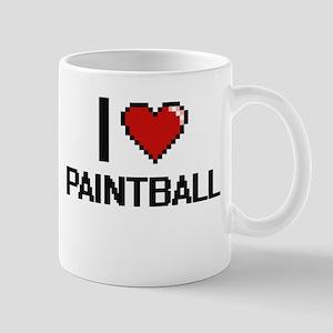 I love Paintball digital design Mugs