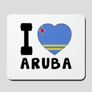 I Love Aruba Mousepad