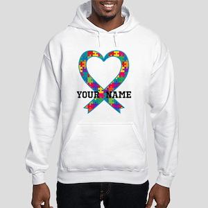 Autism Ribbon Heart Personalized Sweatshirt