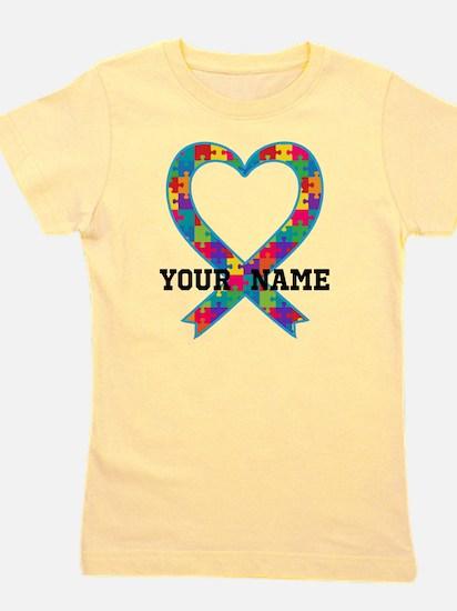 Autism Ribbon Heart Personalized T-Shirt