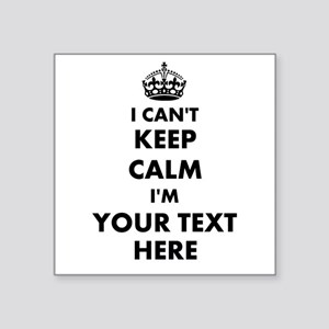 I cant keep calm Sticker