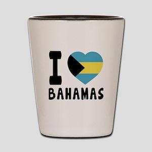 I Love Bahamas Shot Glass