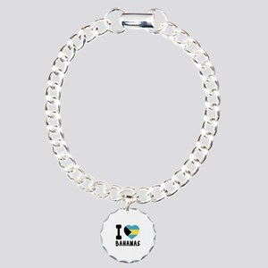 I Love Bahamas Charm Bracelet, One Charm
