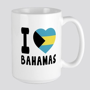 I Love Bahamas Large Mug