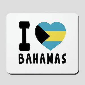 I Love Bahamas Mousepad