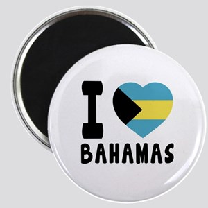 I Love Bahamas Magnet