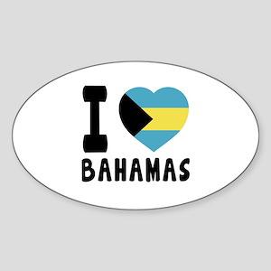 I Love Bahamas Sticker (Oval)