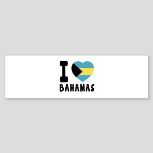 I Love Bahamas Sticker (Bumper)