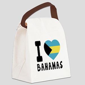 I Love Bahamas Canvas Lunch Bag