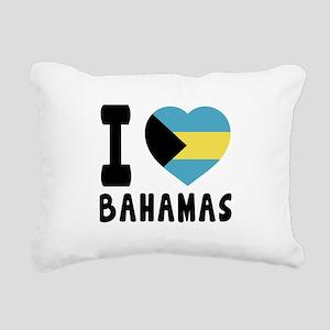 I Love Bahamas Rectangular Canvas Pillow