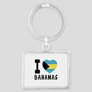 I Love Bahamas Landscape Keychain