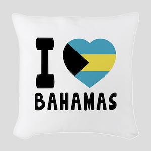 I Love Bahamas Woven Throw Pillow