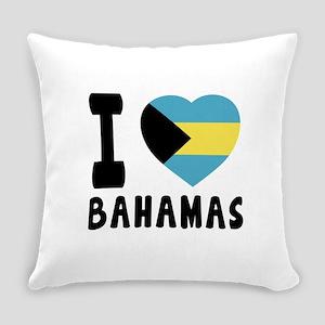I Love Bahamas Everyday Pillow