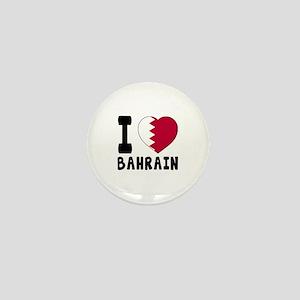 I Love Bahrain Mini Button
