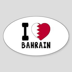 I Love Bahrain Sticker (Oval)