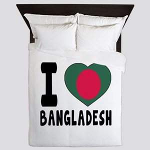 I Love Bangladesh Queen Duvet