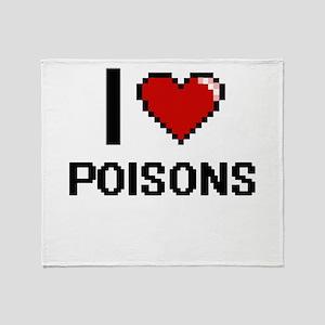 I love Poisons digital design Throw Blanket