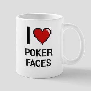 I love Poker Faces digital design Mugs