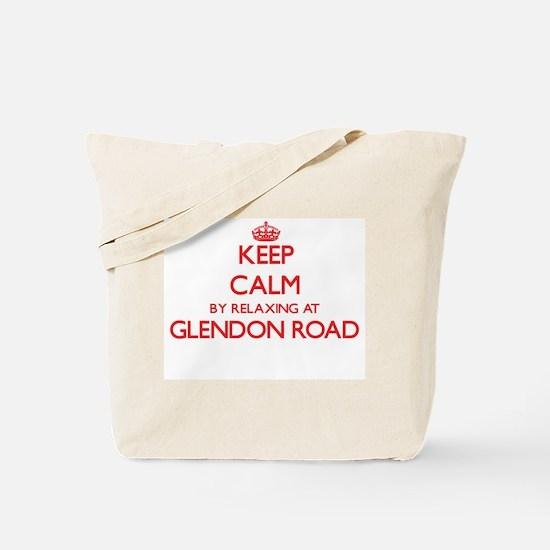 Keep calm by relaxing at Glendon Road Mas Tote Bag