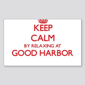Keep calm by relaxing at Good Harbor Massa Sticker