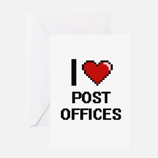 I love Post Offices digital design Greeting Cards