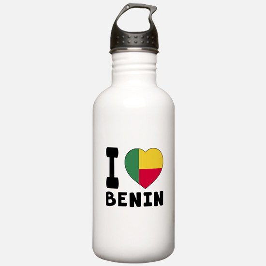 I Love Benin Water Bottle
