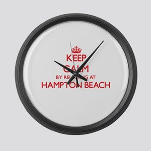 Keep calm by relaxing at Hampton Large Wall Clock