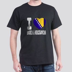 I Love Bosnia and Herzegovina Dark T-Shirt