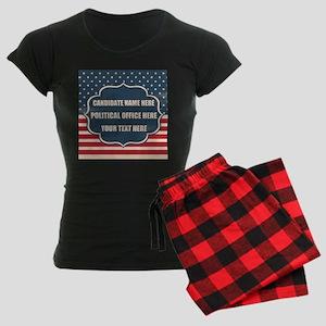 Personalized USA President Women's Dark Pajamas