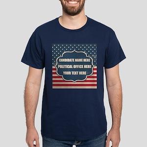 Personalized USA President Dark T-Shirt