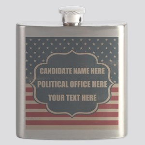 Personalized USA President Flask