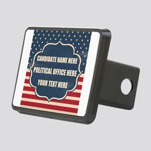 Personalized USA President Rectangular Hitch Cover
