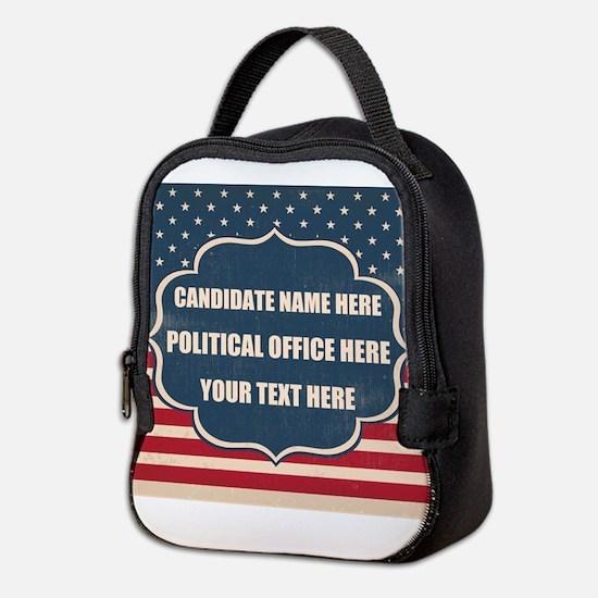 Personalized USA President Neoprene Lunch Bag
